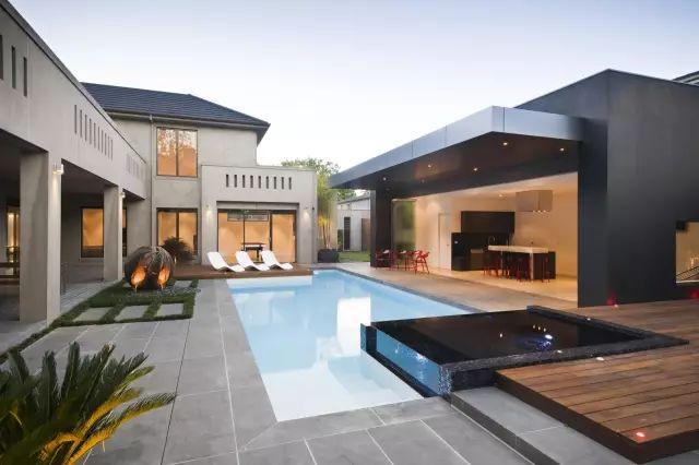 赶紧收藏!21个最美现代风格庭院设计案例_133