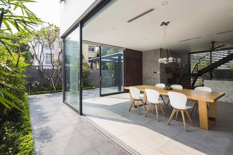 越南胡志明白色方块住宅-7