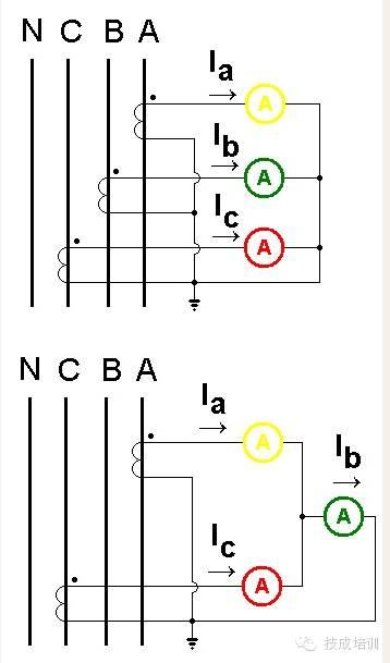 配电柜上电流表与互感器的接线图_3