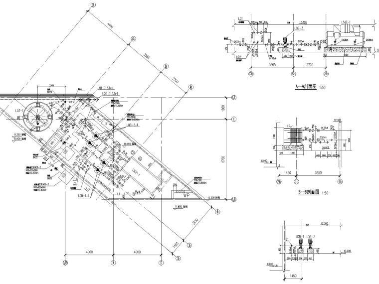 某展示中心全套空调图纸(含通风与防排烟设计,制冷机房设计)