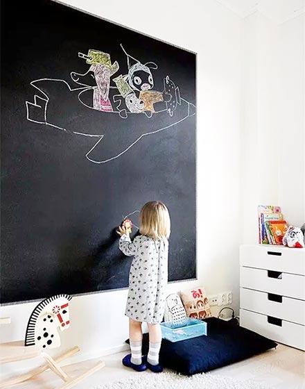 趣味又实用的黑板墙,涂涂写写一样美。_7