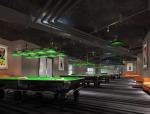 (原创)台球室 台球厅设计案例效果图