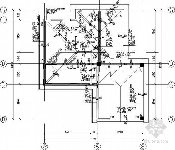 [山东]坡屋顶框剪别墅结构施工图