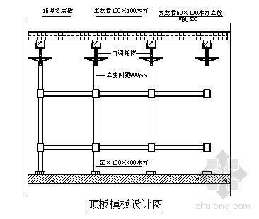 北京某住宅楼模板工程施工方案(长城杯 多层板)