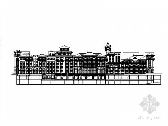 [青岛]高层欧式风格星级酒店设计方案图