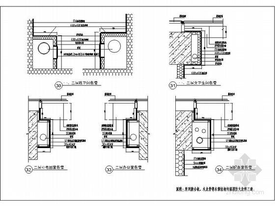 卫生间包管道节点详图