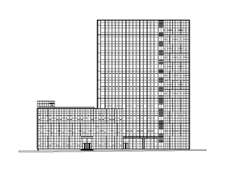 [江西]高层幕墙立面残疾人指导康复中心建筑施工图