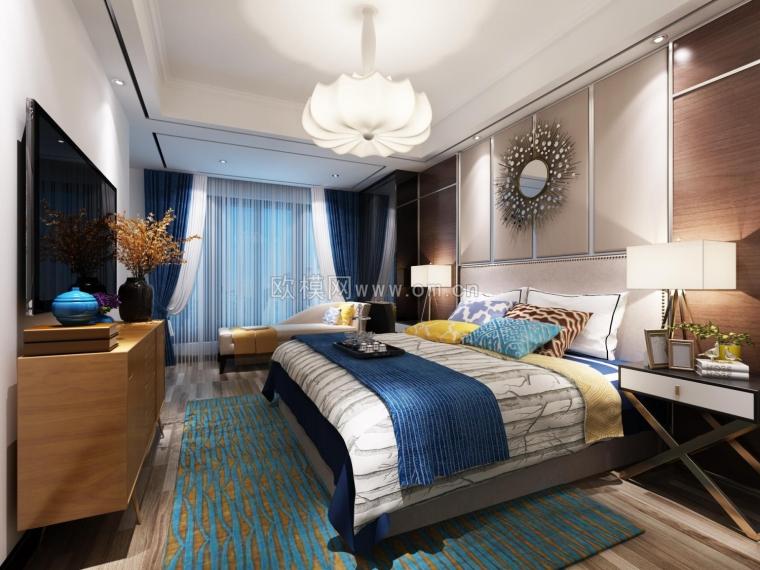 理想型卧室装修,周末就窝在这里面不想出门了哈哈哈~欧模网-14638937394920.jpg