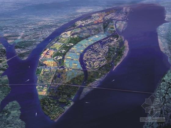 滨江现代风格城市规划效果图