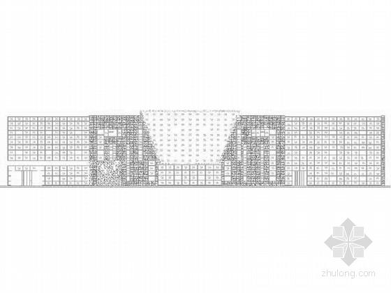 [内蒙古]3层现代风格沿街商业建筑施工图(含玻璃幕墙详图 效果图)