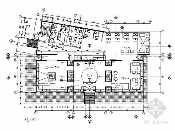 [北京]房产中介连锁公司现代简约办公室空间设计施工图