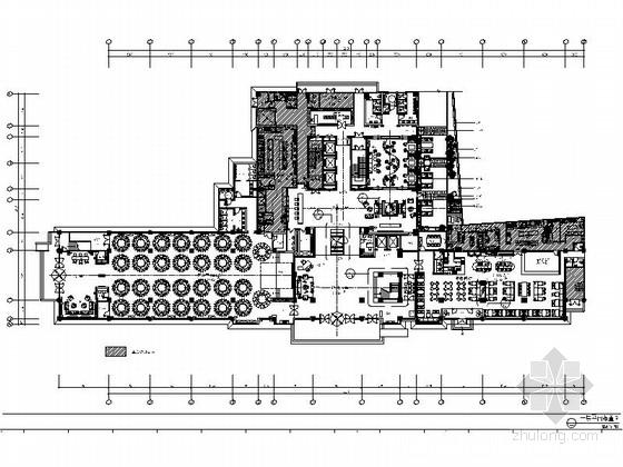 [山东]商务中式五星级酒店宴会厅装修施工图(含效果)