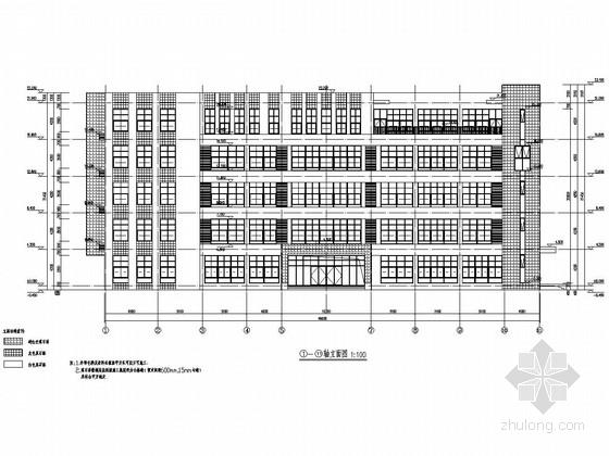 五层框架结构职成教中心教学实训楼结构施工图(含建筑图)