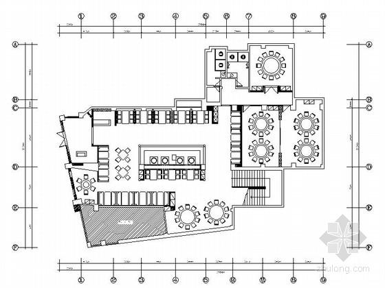 [原创]中式餐厅室内设计装修施工图