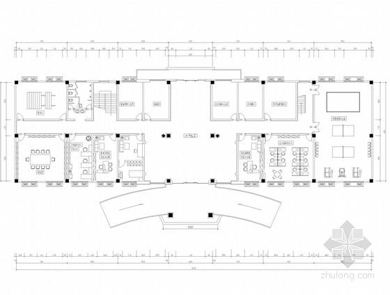 [南京]知名设计公司设计机关单位办公空间施工图(含效果图)