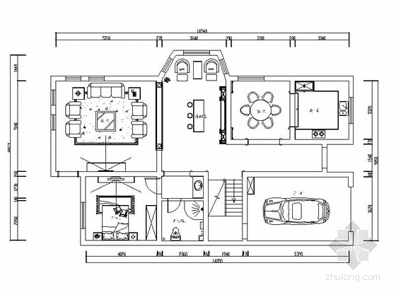 [原创]欧式精致的三层别墅室内施工图(含效果图)