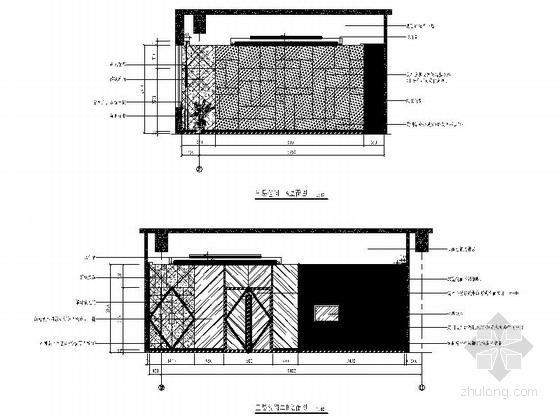[南京]国家旅游景区现代科技活动中心室内装修施工图(含效果)包间立面图
