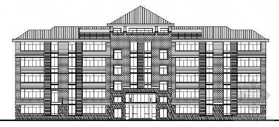某五层武警营房及食堂建筑设计方案图