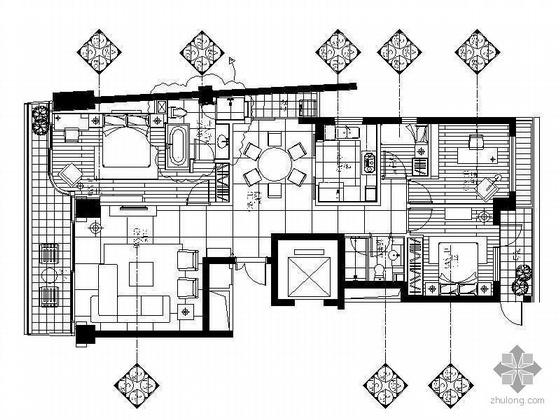 某花园三室两厅住宅装修图