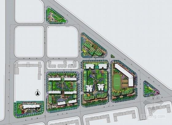 [大连]高档都市中央生活居住区景观设计方案