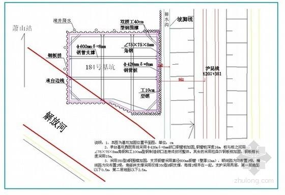 锁口钢管桩及拉森钢板桩加固深基坑施工方案