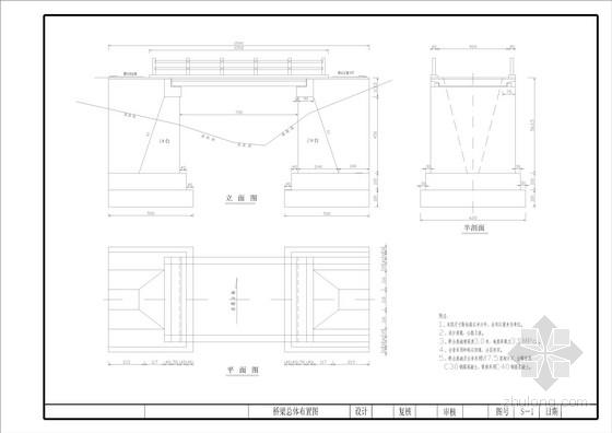 1-8m实心板桥梁全套施工图