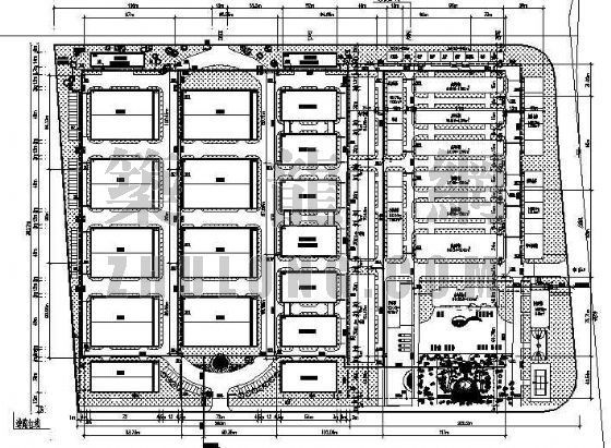 江苏某大型厂区消防给水总平面图