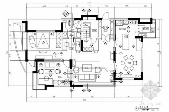 湖边花园式住宅区现代风格双层别墅装修图