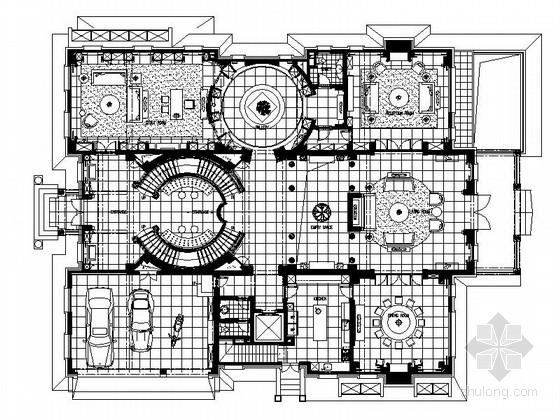 [北京]名师原创独栋别墅欧陆风格样板间施工图(含实景)