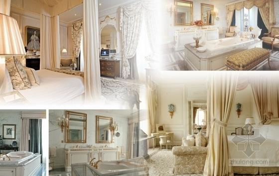 高级品牌国际连锁酒店室内设计方案总统套房意向图