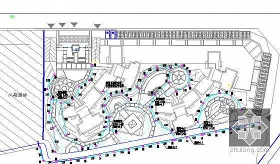 [广东]2015年安置房项目市政及绿化工程预算书(全套图纸)-照明平面图