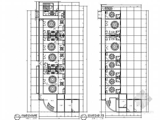 [安徽]某演艺吧副楼餐饮室内装修施工图(含效果)