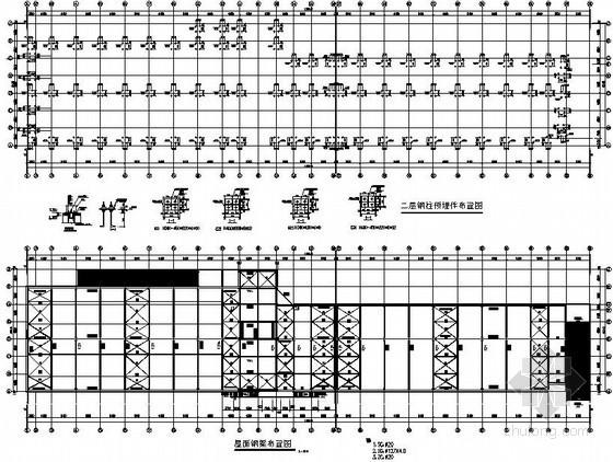 某大型钢结构汽车库结构设计图