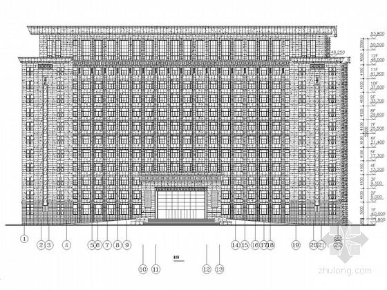 机关会议中心屋顶网架、钢结构施工图(含建筑图)