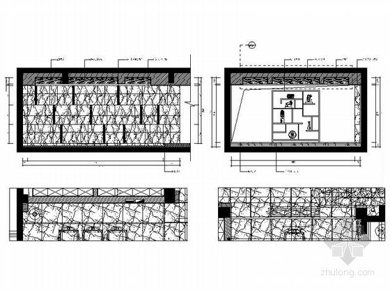[福建]产权式时尚现代四层别墅样板房装修图茶室立面图