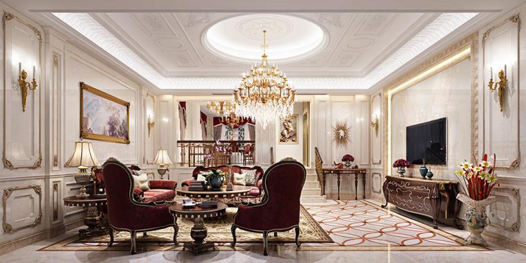 贤二设计   卢浮原著别墅法式风格案例赏析