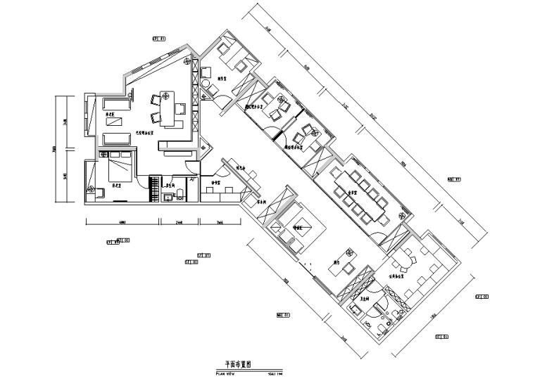 详细全套现代办公空间设计施工图+效果图(另含设计方案、软装方案)