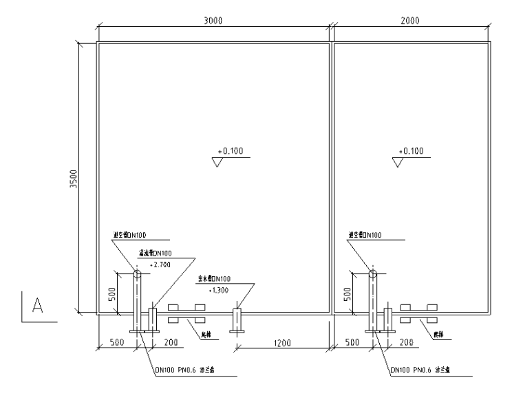 某办公室中水回用处理工程全套图纸(中空纤维膜法)