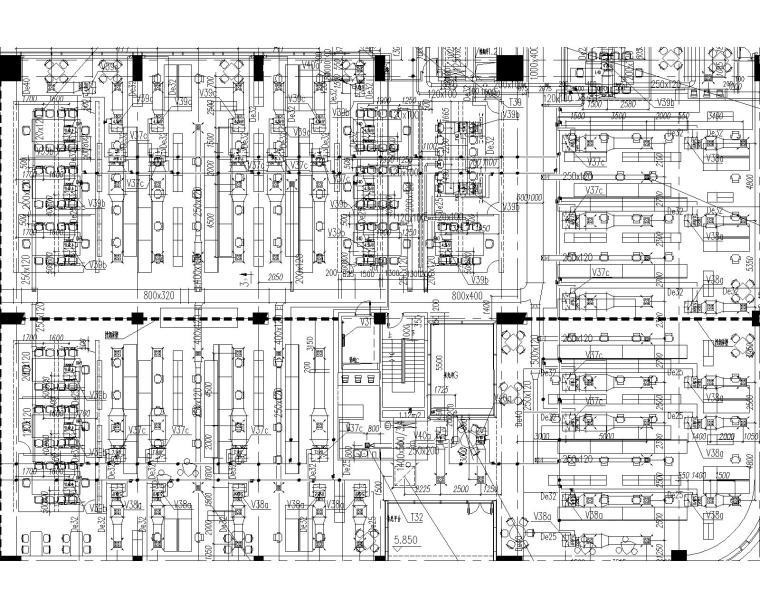 同济科技园A楼施工图刻盘暖通设计全套图纸(含燃气系统设计)
