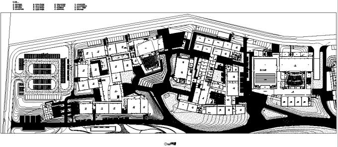 [浙江]流动地景自然生态大学校园景观规划设计全套图纸(方案+CAD施工图+PDF施工图+实景图)-中心节点区铺装设计详图