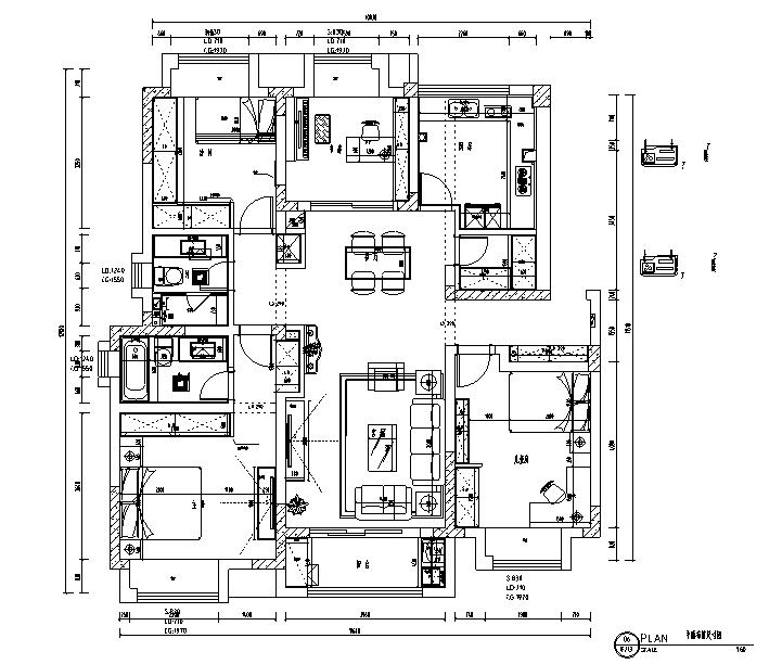[江苏]简美主义住宅设计施工图(附效果图)