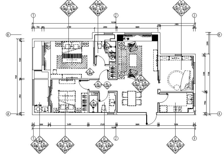 【浙江】2套混合风格新城样板间设计(附效果图+材料表)_2