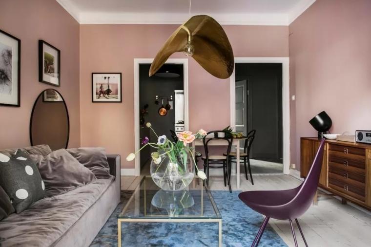 斯德哥尔摩色彩缤纷时尚公寓