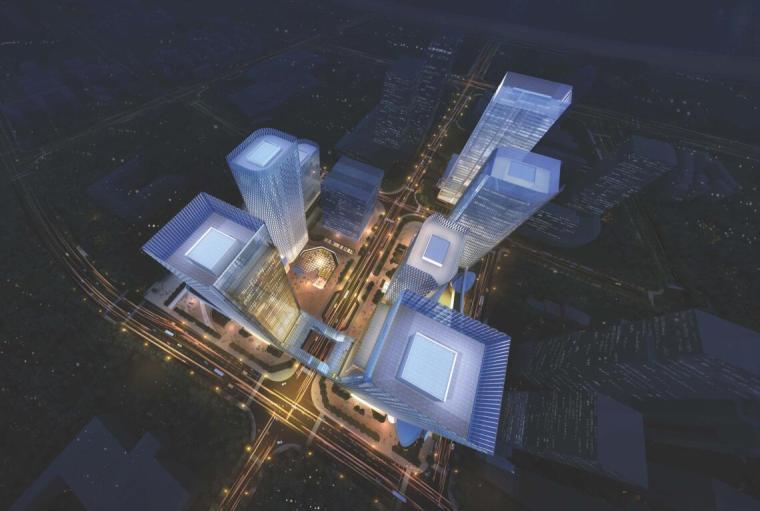 【山东】某环球金融中心规划建筑方案设计文本_1