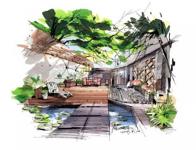室内手绘|室内设计手绘马克笔上色快题分析图解_18