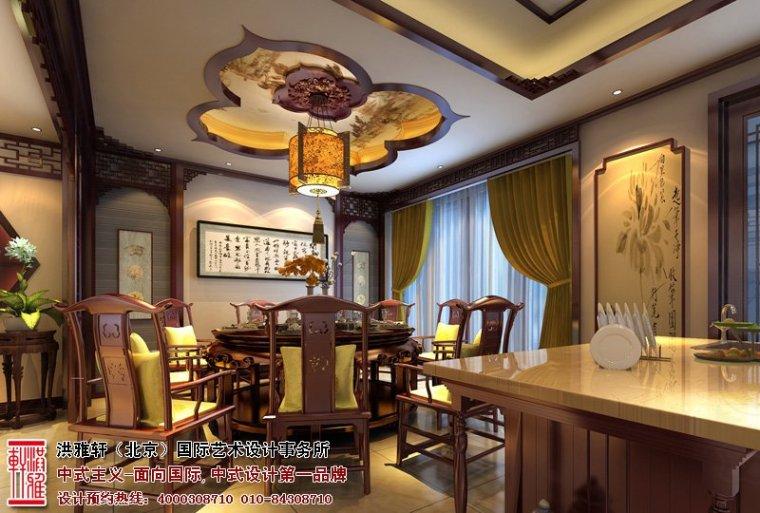 唐山别墅中式设计效果图,高贵多古雅之风_5