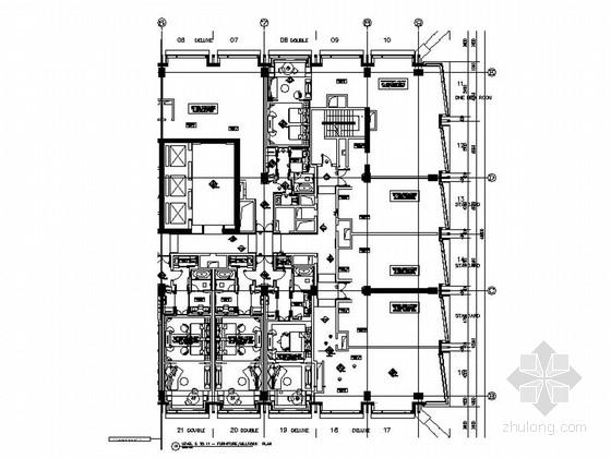[北京]高档现代五星酒店施工图含效果图
