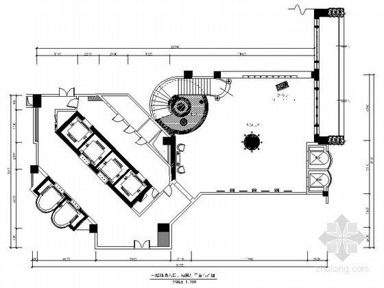 [广东]国际现代商务大酒店中餐厅室内装修施工图