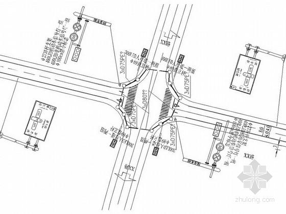 地坪漆与交通设施资料下载-[浙江]城市支路交通设施施工图设计