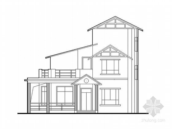 [新农村]3层216平米现代风格坡顶别墅建筑施工图
